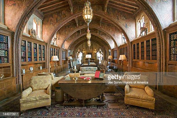 Gothic library of Hearst Castle America's Castle San Simeon Central California Coast