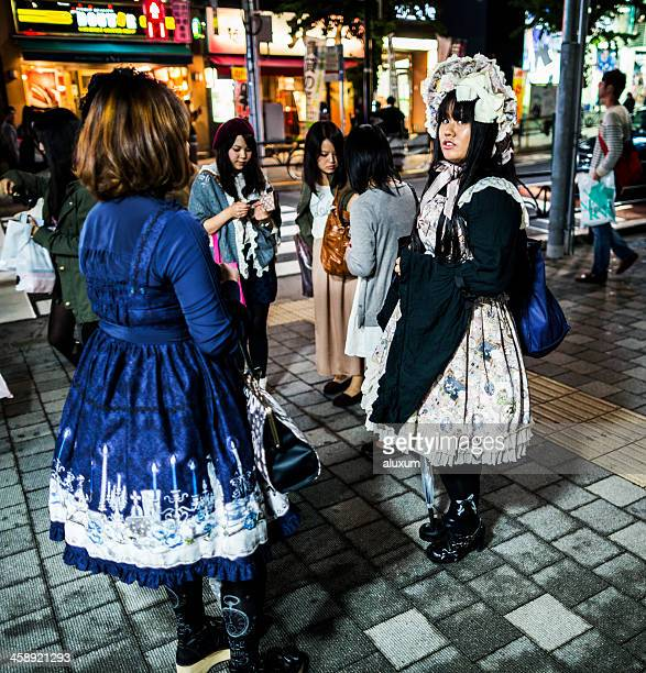 Gothic Lolita in Harajuku station Tokyo Japan