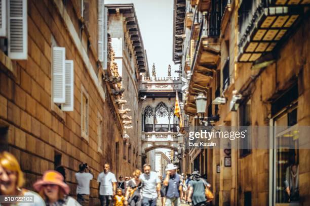 Gothic Quarter Carrer Del Bisbe Barcelona Spain