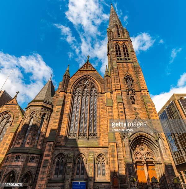gothic revival architecture - old glasgow stock pictures, royalty-free photos & images