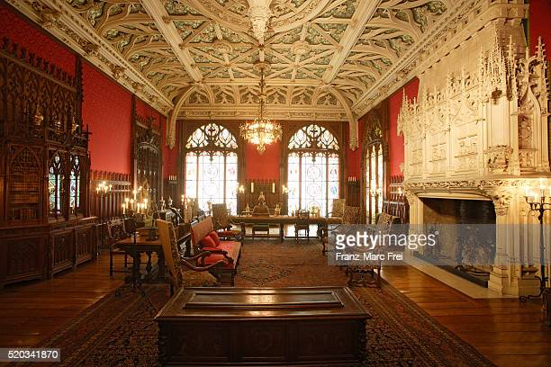 gothic room of marble house - rhode island stock pictures, royalty-free photos & images