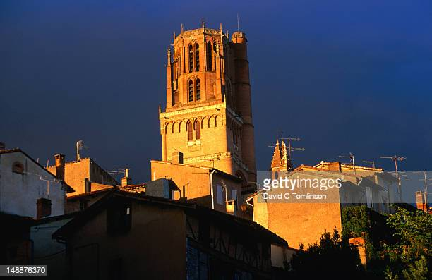 Gothic tower of Basilica of St Cecile in the Tarn region.