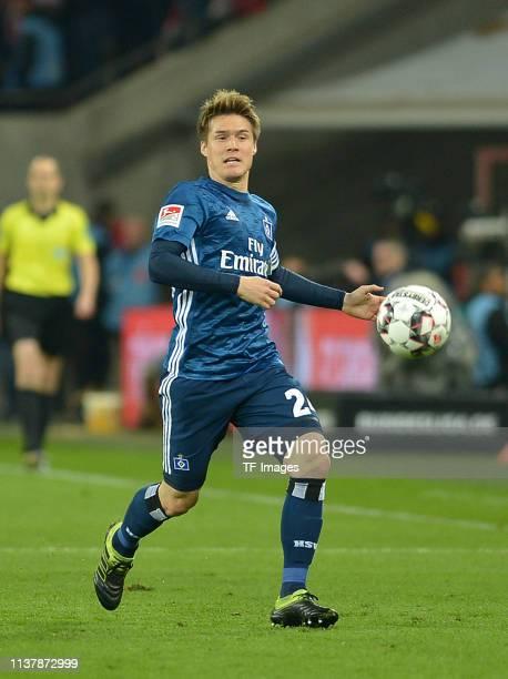 Gotoku Sakai of Hamburger SV controls the ball during the Second Bundesliga match between 1 FC Koeln and Hamburger SV at RheinEnergieStadion on April...