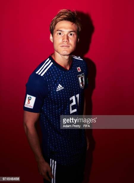 Gotoku Sakai of Japan poses for a portrait during the official FIFA World Cup 2018 portrait session at the FC Rubin Training Grounds on June 14 2018...
