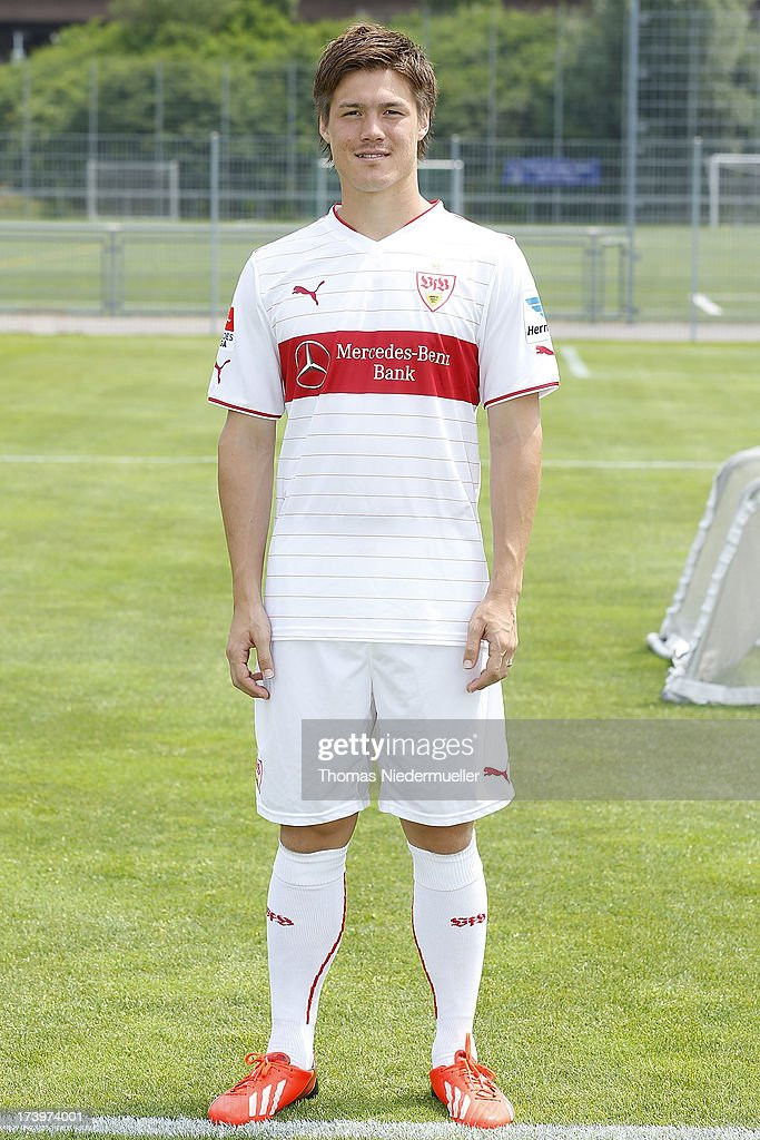 Gotoku Sakai of VfB Stuttgart poses on July 11, 2013 in Stuttgart, Germany.