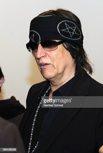 Gottfried Helnwein attends the press converence for Gottfried Helnwein Retrospective at Albertina on May 24 2013 in Vienna Austria