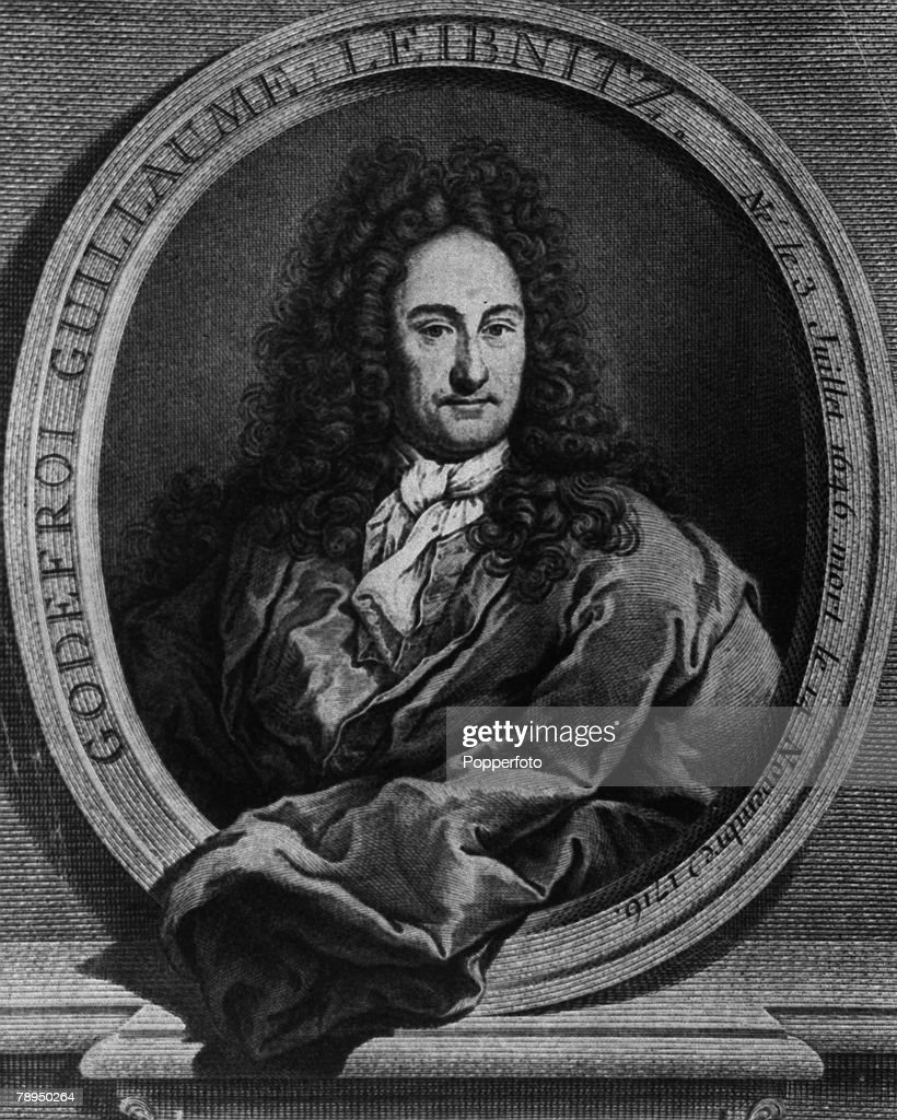 Gottfried Leibniz, German philosopher and mathematician,1646-1716. Portrait. : News Photo