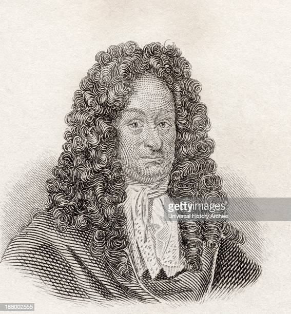 Gottfried Wilhelm Leibniz, 1646 To 1716. German Mathematician And Philosopher. From Crabb's Historical Dictionary Published 1825.
