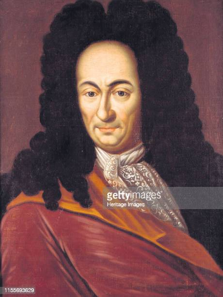 Gottfried Wilhelm Leibniz , circa 1710. Private Collection. Artist Anonymous.