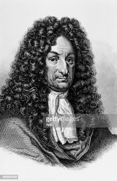 Gottfried Wilhelm Leibniz german philosopher engraving