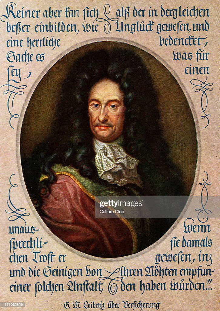 Gottfried Wilhelm Leibniz portrait : News Photo