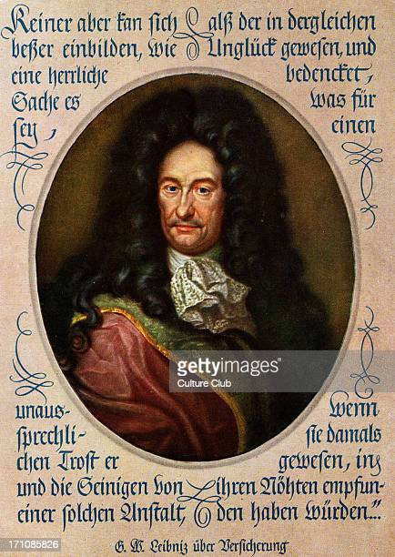 Gottfried Wilhelm Leibniz portrait German philosopher, 1646-1716.
