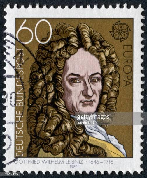gottfried wilhelm leibniz stamp - gottfried wilhelm leibniz stock pictures, royalty-free photos & images