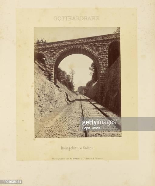 Bahngebiet bei Goldau, Adolphe Braun & Cie , Dornach, France, about 1875Ð1882, Albumen silver print, 27.3 _ 21.4 cm .