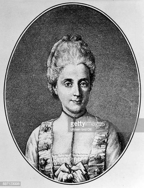 Gotthold Ephraim Lessing,Gotthold Ephraim Lessing,,Eva Lessing , Ehefrau von Gotthold Ephraim Lessing, Porträt, - undatiert