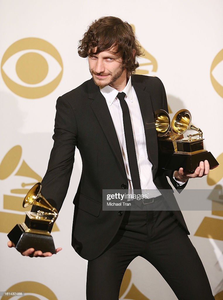 Gotye attends The 55th Annual GRAMMY Awards - press room held at Staples Center on February 10, 2013 in Los Angeles, California.
