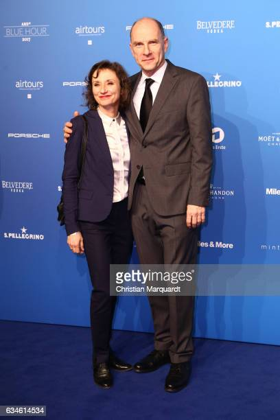 Gotz Schubert and Simone Witte attend the Blue Hour Reception hosted by ARD during the 67th Berlinale International Film Festival Berlin on February...