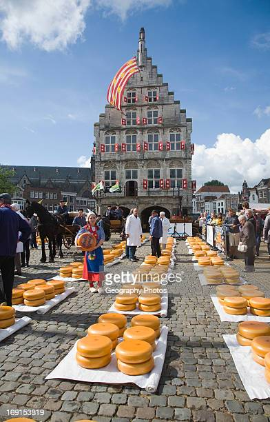Gouda and cheese market South Holland Netherlands
