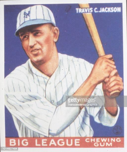 Goudey baseball card features American baseball player Travis Jackson of the New York Giants New York New York 1953