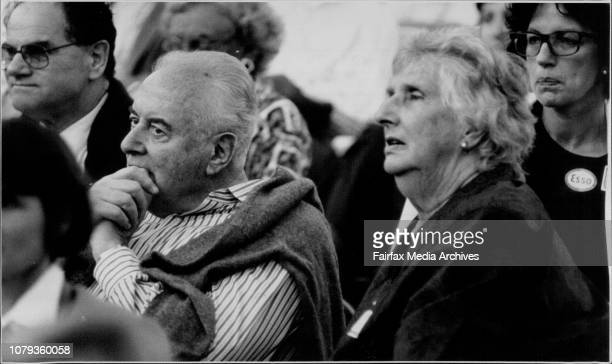 Gough and Margaret Whitlam in the crowd January 11 1992