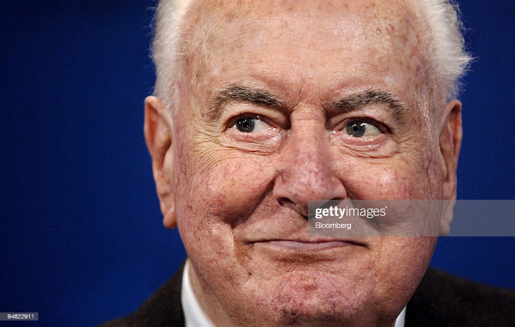 Gough Whitlam, the 90-year-old former prime minister of Australia, attends a ceremony inducting him and his wife Margaret as the first life-time members of Australia's Labor Party, at the Australian Labor Party National Conference, in Sydney, Australia, on Saturday, April 28, 2007. Australia's main opposition Labor Party has dropped its 25-year-old ban on new uranium mines, paving the way for industry expansion.