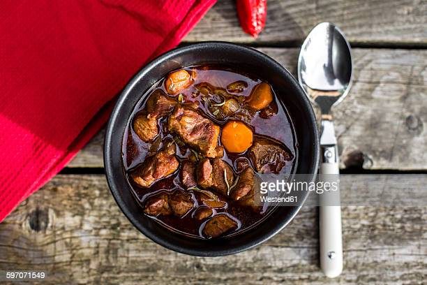 Goulash in bowl