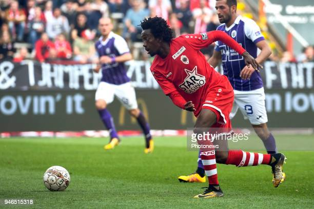 Goune Niangadou midfielder of Antwerp FC during the Jupiler Pro League play off 2 match between Royal Antwerp FC and Beerschot Wilrijk on April 15...