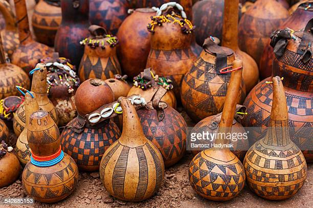 Gourd containers for sale in southern Ethiopia