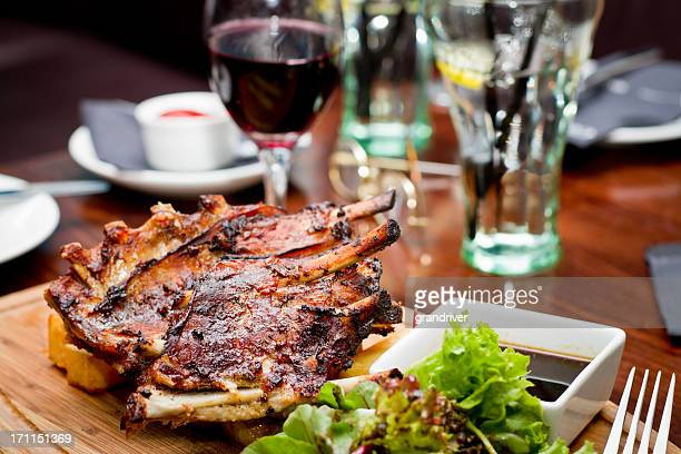 Gourmet Barbeque Ribs, Red Wine