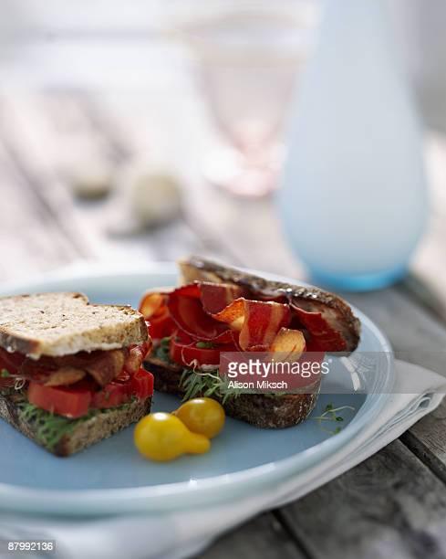 Gourmet BLT sandwich