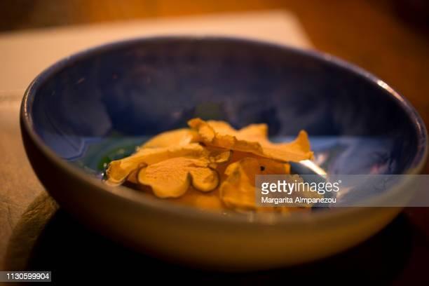 Gourmet dish with three types of rutabaga