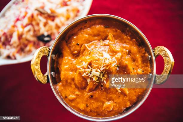 gourmet, freshness, no people, photography, snack, serving size - butter chicken stock photos and pictures