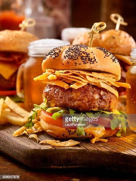 Gourmet Mini Burgers with Beer Samplers