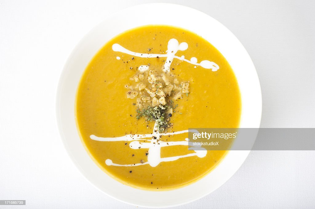 Gourmet pureed soup : Stock Photo