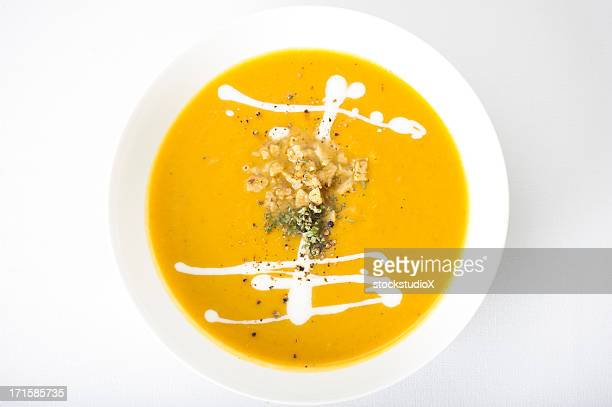 gourmet pureed soup - pureed stock pictures, royalty-free photos & images
