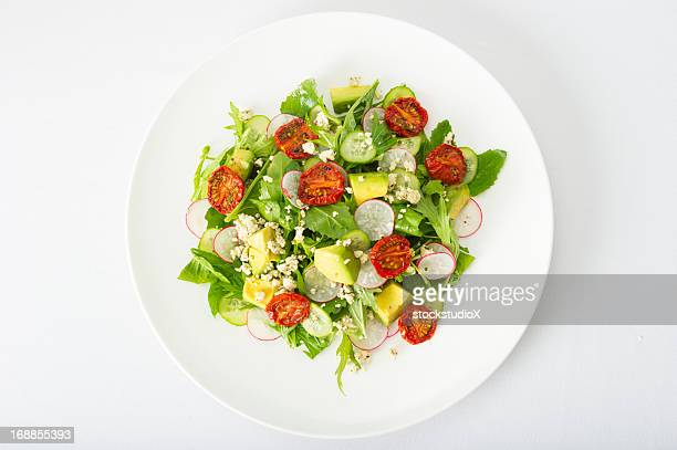 gourmet salad - salad stock pictures, royalty-free photos & images