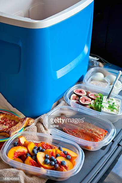 gourmet tailgating - esky stock photos and pictures