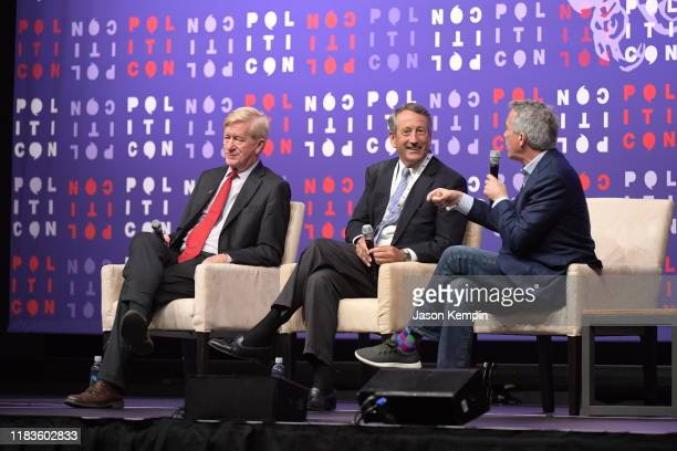 Gov Bill Weld Gov Mark Sanford and Rep Joe Walsh speak onstage during the 2019 Politicon at Music City Center on October 26 2019 in Nashville...