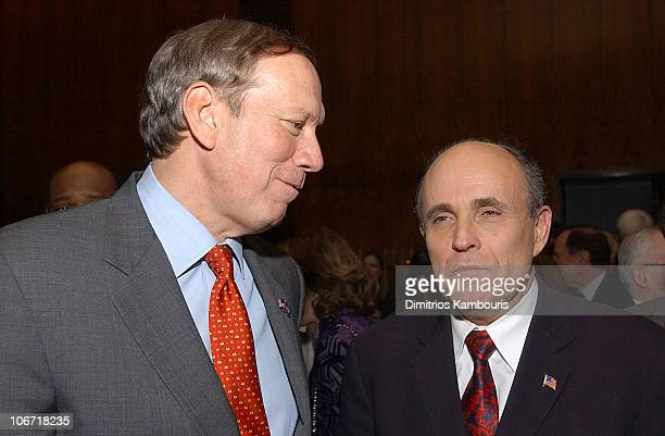 Gov George Pataki and Rudolph Giuliani during Harvey Weinstein and Miramax Books Celebrate the Success of Rudolph Giuliani's Literary Debut...
