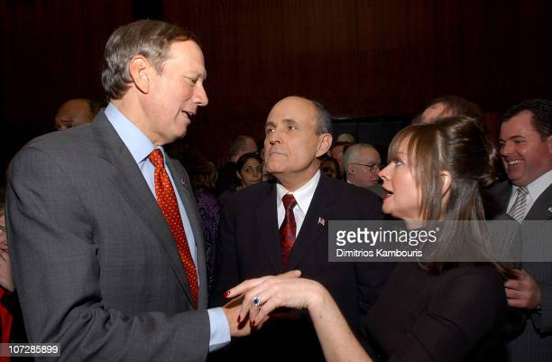 Gov George Pataki Rudolph Giuliani and Judy Nathan