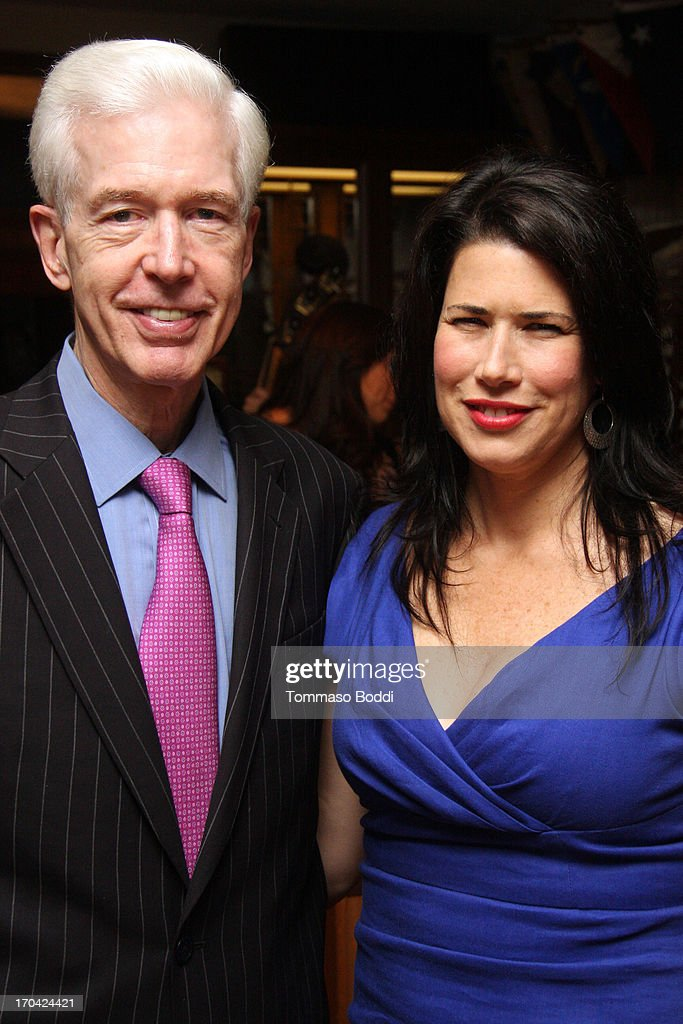Gov. Gray Davis (L) and actress Melissa Fitzgerald attend the 'Chasing The Hill' reception held at the Pacific Mariners Yacht Club on June 12, 2013 in Marina del Rey, California.