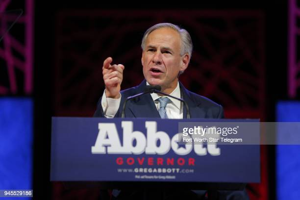 Gov Greg Abbott speaks at the Republican Party of Texas State Convention at the Kay Bailey Hutchison Convention Center in Dallas on May 12 2016