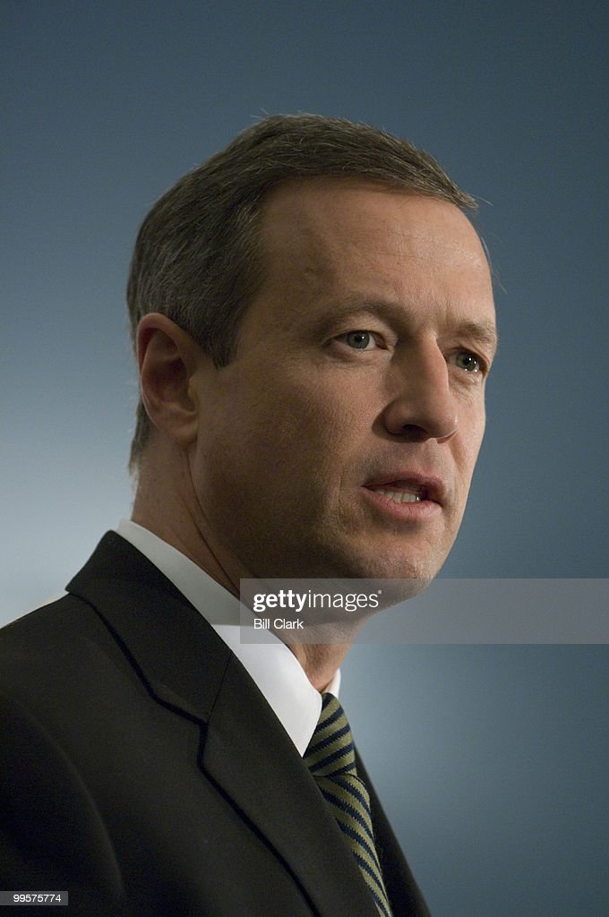 Gov. Martin O'Malley, D-Md., speaks during the news conference to discuss the Chesapeake Crescent Partnership on Tuesday, Jan. 29, 2008, in the U.S. Capitol. The partnership will integrate the region as one entity with shared goals and objectives, including economic, social, and environmental initiatives.