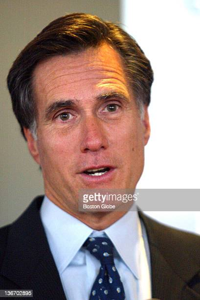 Gov Mitt Romney speaking at Akamai give details on his economic stimulus package he filed today to spur investment and job growth speed up the...