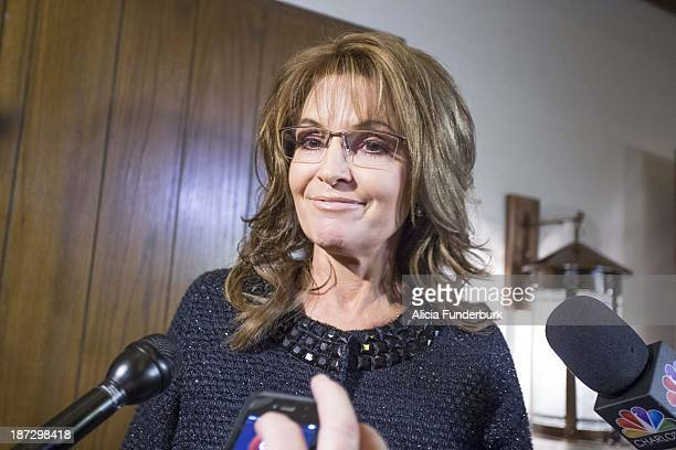 Gov Sarah Palin attends the Billy Graham birthday party on November 7 2013 in Asheville United States