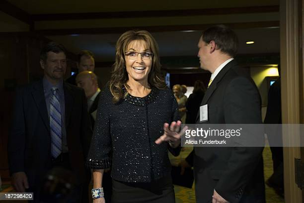 Gov. Sarah Palin attends the Billy Graham birthday party on November 7, 2013 in Asheville, United States.