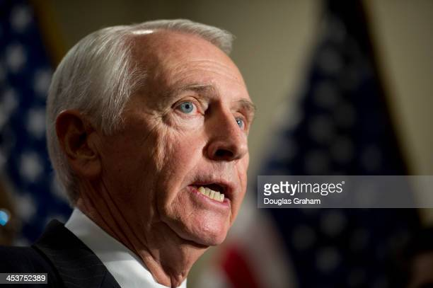 Gov Steve Beshear DKy talks with reporters during a media availability on the Affordable Care Act immediately after a closed joint whip and caucus...