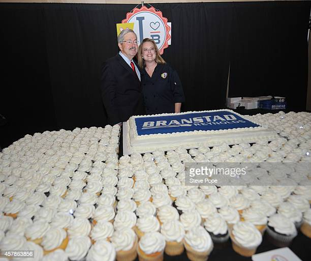 Gov Terry Branstad stands in front of a cup cake display at his Birthday Bash October 25 2014 in Clive Iowa Already distinguished as the states...