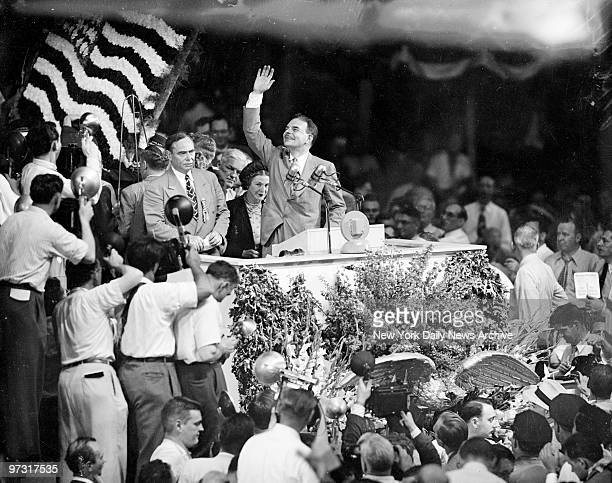 Gov Thomas E Dewey at the Republican National Convention after winning the presidential nomination