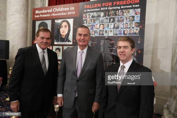 Gov Tom Ridge Gen James L Jones Amb Lincoln Bloomfield Jr Washington DC Gov Tom Ridge the US first Homeland Security Secretary Gen James L Jones...